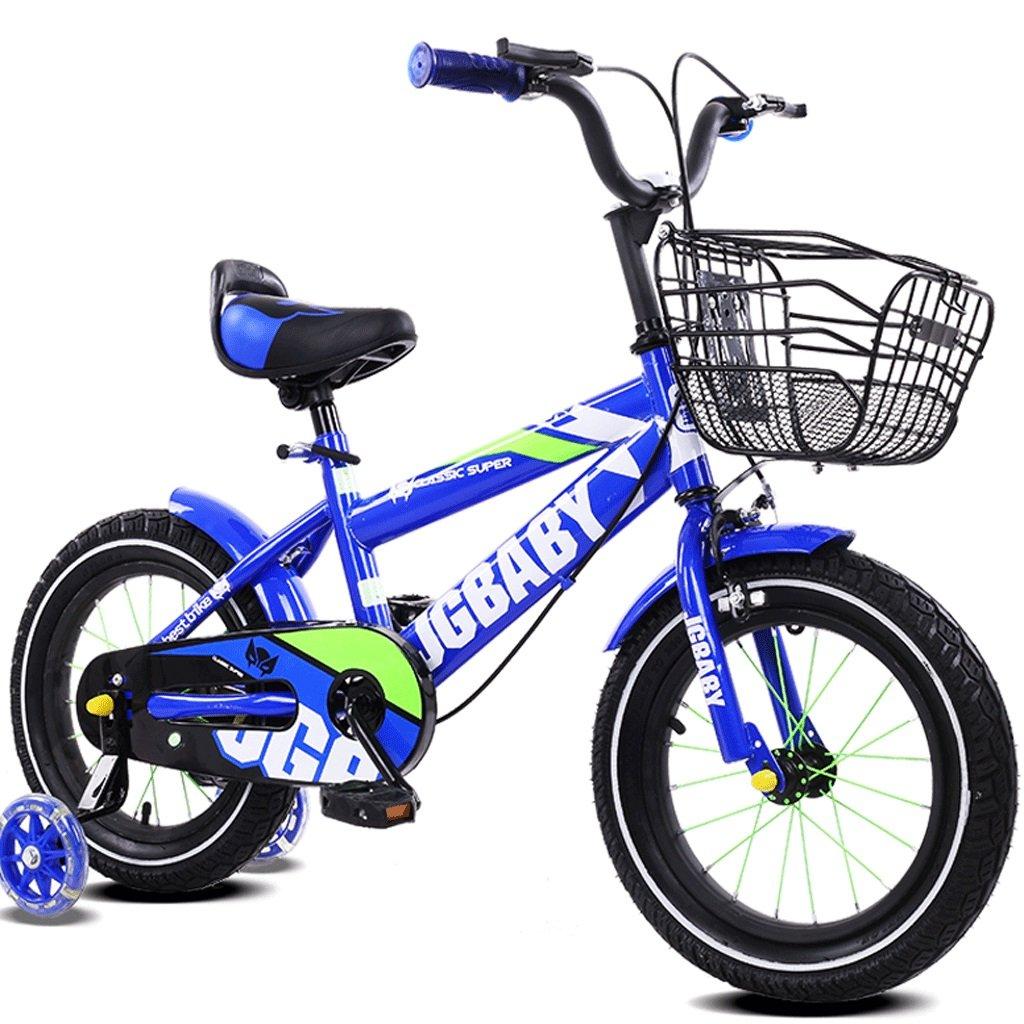 DGF 男の子と女の子のための子供の自転車3-12歳のベビーカーの子供の自転車 (色 : Blue, サイズ さいず : 12インチ) B07F3XT6RV 12インチ|Blue Blue 12インチ
