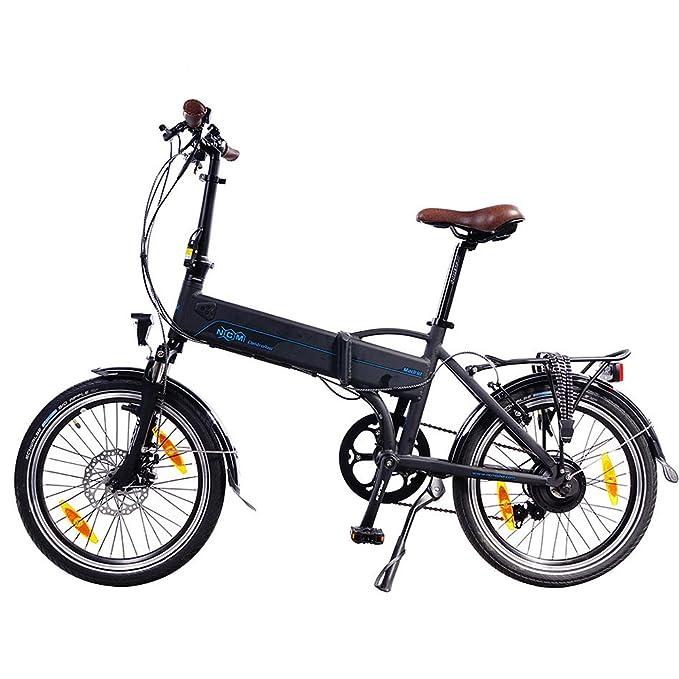 NCM Madrid 20 pulgadas bicicleta eléctrica S de bicicleta plegable E-Bike aluminio 36 V 250 W batería de ion de litio Marco batería con 9 Ah, ...