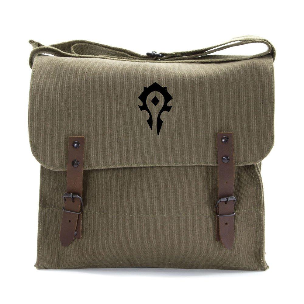 World of Warcraft Horde Army Heavyweight Canvas Medic Shoulder Bag in Olive /& Black
