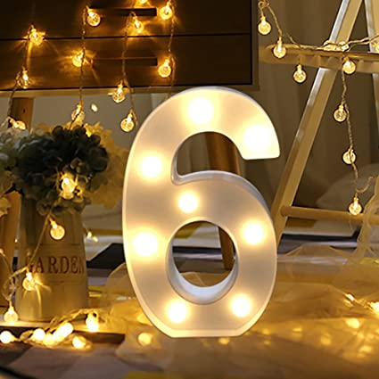 Amazon.com: Letras blancas de la marca Sandistore, luces LED ...