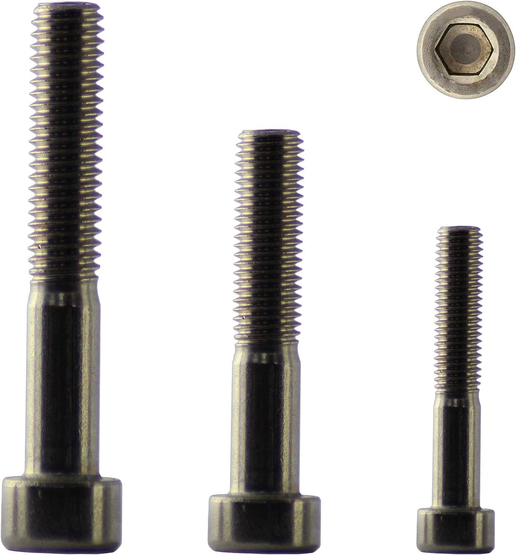 DIN 912 Zylinderschrauben mit Innensechskant M2 x 10 Falk-Schrauben Zylinderkopfschrauben Innensechskantschraube 10 St/ück Edelstahl A2 V2A NIRO Teilgewinde