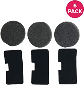 Think Crucial Replacements for Shark Pre & Post Motor Felt Filter Set Fits EP602, EP603, EP6312 & EP677, Compatible with Part 1049FC