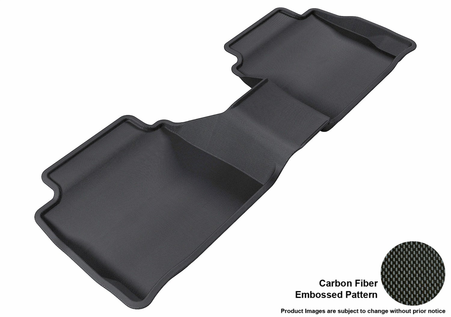 Black 3D MAXpider Complete Set Custom Fit All-Weather Floor Mat for Select Ford Fusion Models L1FR06001509 Kagu Rubber