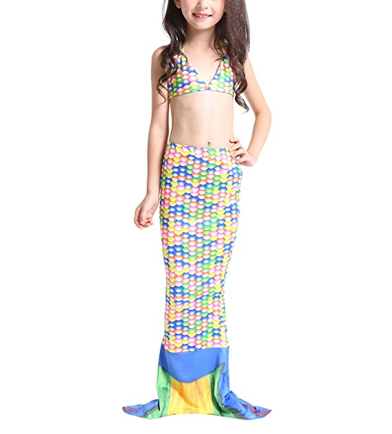 Le SSara Bebé 3 piezas niña pez cola Sea-Maid sirena traje de baño ...