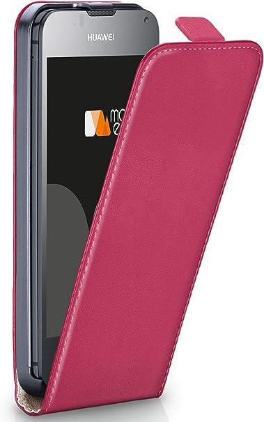 Moex Flip Case Für Huawei Ascend Y300 Hülle Klappbar 360 Grad Klapphülle Aus Vegan Leder Handytasche Mit Vertikaler Klappe Magnetisch Pink Elektronik