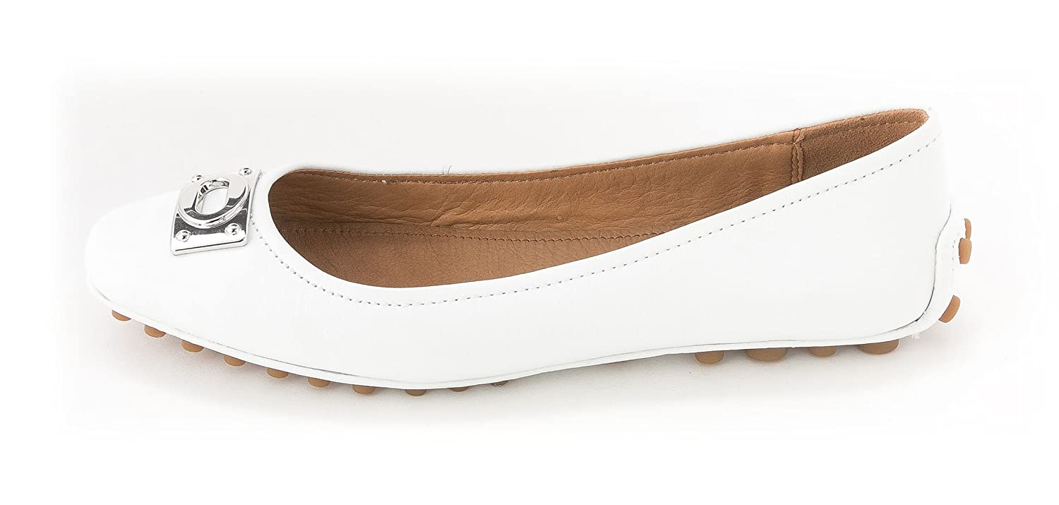 Coach Womens Vernon Leather Closed Toe Ballet Flats