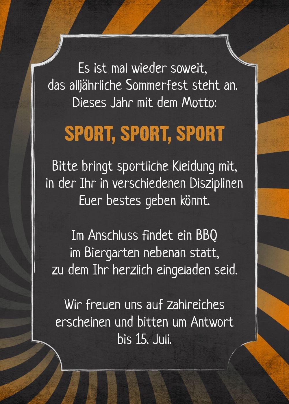 Einladung Sommerfest Retro Sport, 60 Karten, Rot B073W7VGDJ | | | Einfach zu spielen, freies Leben  | Deutschland München  | Zu einem niedrigeren Preis  11274d