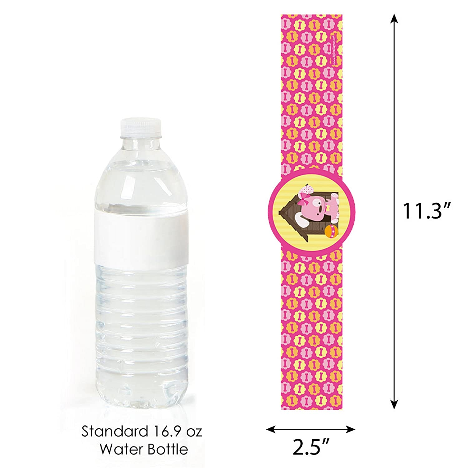 DIY Party Supplies Girl Puppy Dog Set of 15 Baby Shower or Birthday Party DIY Wrapper Favors /& Decorations