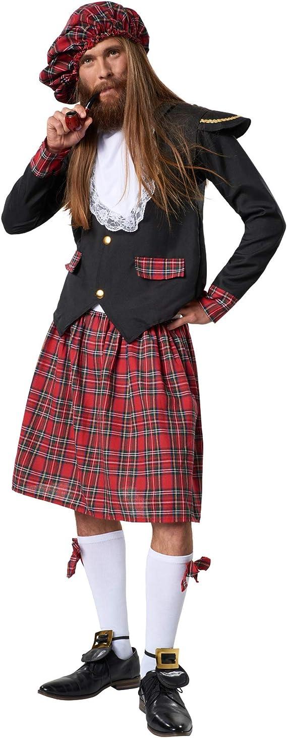 dressforfun 900424 - Disfraz de Hombre Noble Escocés, Chaqueta y ...