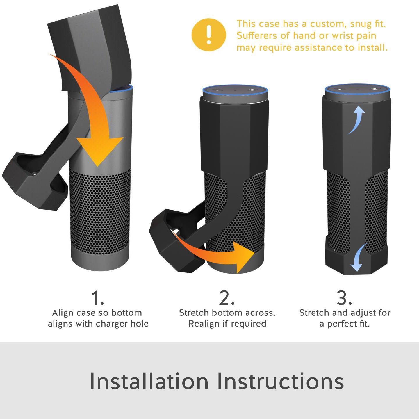 Amazon Echo Hülle Zubehör [Anti-Roll] Silikon Schutzhülle Ständer ...