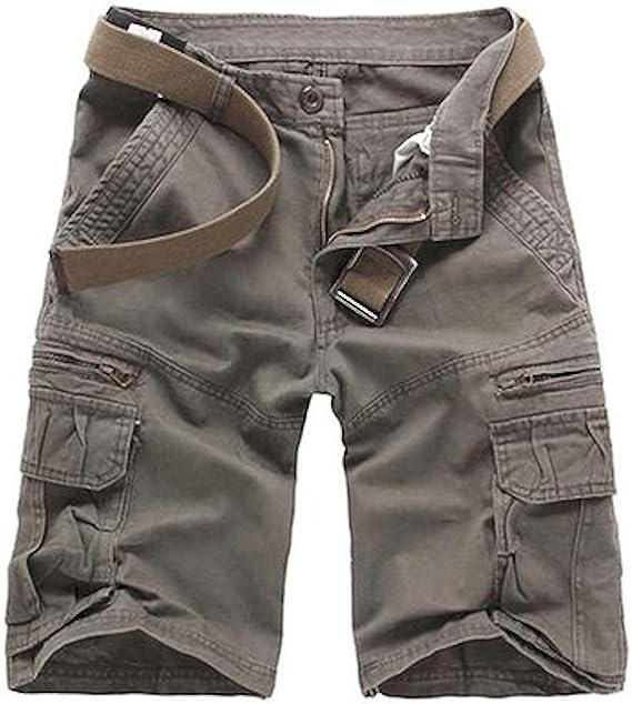 WSLCN - Pantalones cortos de algodón para hombre, estilo militar ...