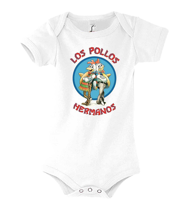 Gr/ö/ße 3-24 Monate in vielen Farben TRVPPY Baby Jungen /& M/ädchen Kurzarm Body Strampler Modell Los Pollos Hermanos