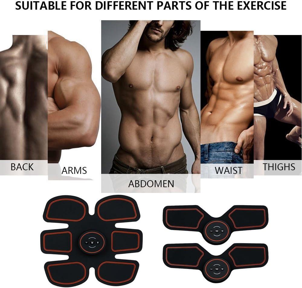 Muscle Ceinture Muscle Massage Trainer Smart Training Gear//ABS Poids Ceinture Muscle stimulation musculaire br/ûlure des graisses pour homme Lumi/ère Portable Gym//Workout//Home Fitness Machine