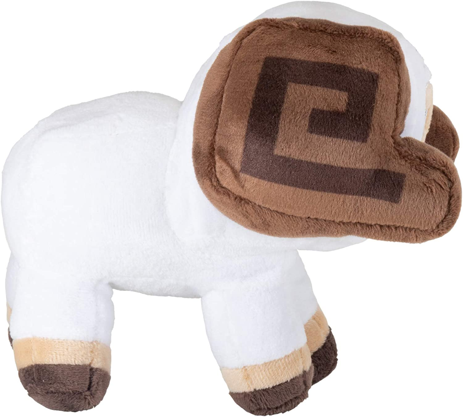 5.5 Tall JINX Minecraft Earth Happy Explorer Horned Sheep Plush Stuffed Toy Multi-Colored