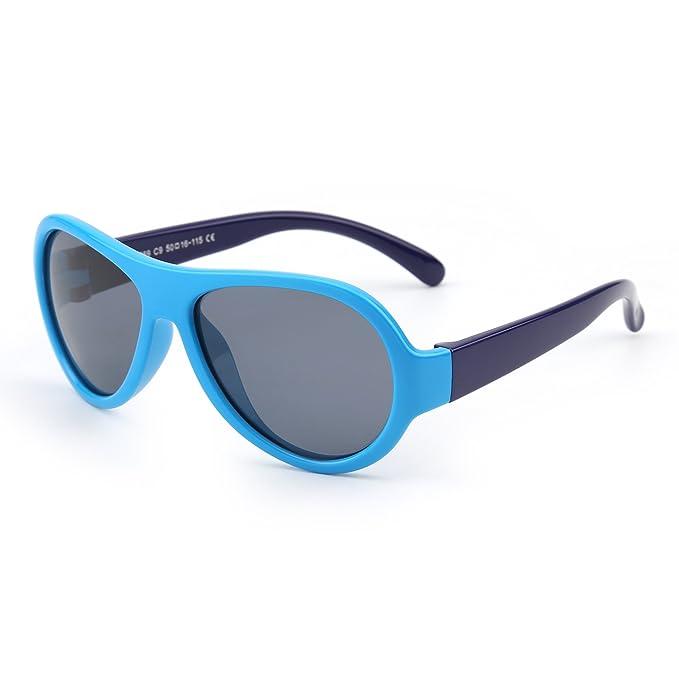 JM Niños Goma Polarizadas Gafas de Sol Irrompible Hijo Chicos Niñas Años 3-12(