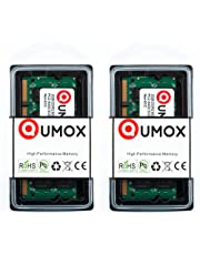 QUMOX Memoria SODIMM para Ordenador pórtatil 4GB(2X 2GB) DDR2 800MHz PC2-6300 PC2-6400 DDR2 800 (200 Pin)