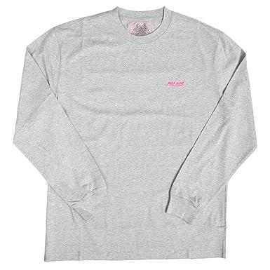 b0fd63862fc9 (パレス スケートボード) PALACE SKATEBOARDS LINE STRIPE LONGSLEEVE TEE Tシャツ Lサイズ Grey