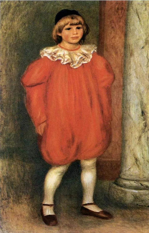 5d Renoir famoso pintura payaso personaje diamante pintura para decoración del hogar Arts40 * 50cm