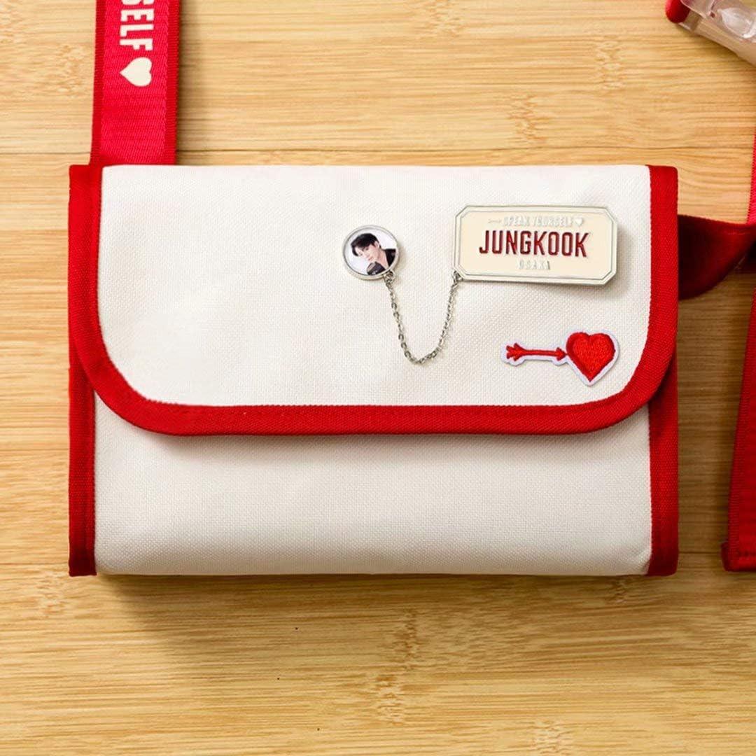 DHSPKN Kpop BTS ID Badge Holder Jungkook Brooches Bangtan Boys Suga Jimin Botton Pins for Bags Hats