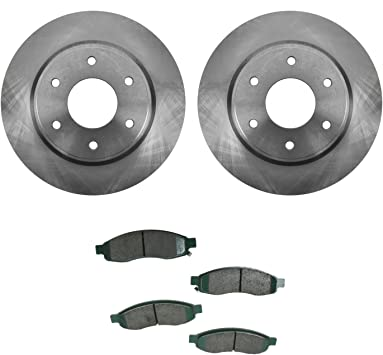 2006 2007 for Nissan Armada Brake Rotors and Ceramic Pads Front