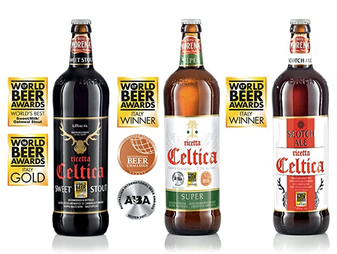 3 opinioni per Birra Morena- varietà celtica di 3 bottiglie da 75cl