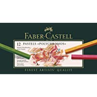 Giz Pastel Seco Polychromos 12 Cores, Faber-Castell