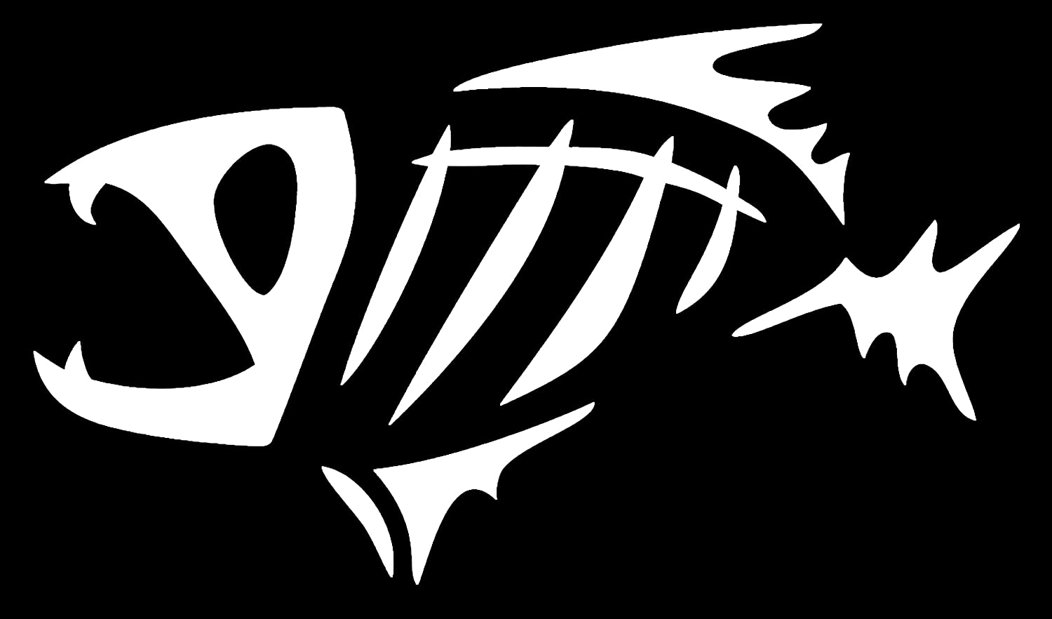 Bread8 Global's Die Cut G Loomis Fish Skeleton 10-inch High Quality Vinyl  Decal for cars, trucks, laptops, helmets, tool boxes, or any hard, smooth