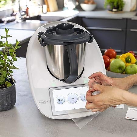 CGGKTECH® Espátula giratoria para Thermomix Vorwerk Kit completo de accesorios para Thermomix TM5, TM6 con llave para desbloquear preparaciones de masa de pizza y protector de pantalla: Amazon.es: Hogar