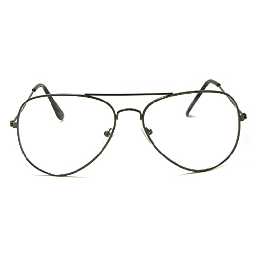 e1e919d8451 Image Unavailable. Image not available for. Color  VINTAGE Aviator Retro  Metal Square Frame Clear Lens Eye Glasses GUNMETAL
