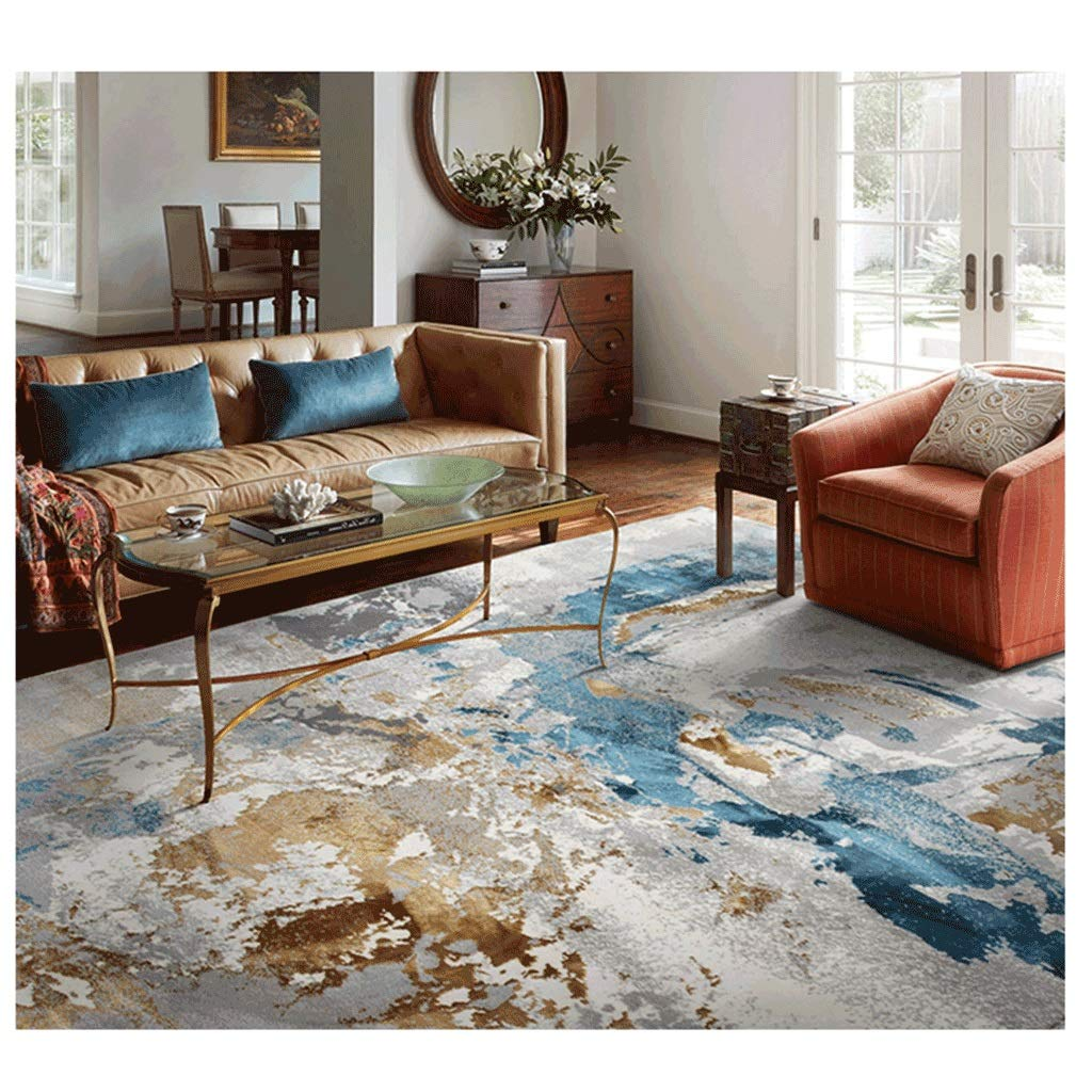 Amazon.com: JXLBB - Alfombra abstracta de seda, estilo ...