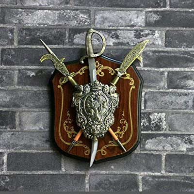 YIYIZHANG Wall Decoration Personality European Style Retro Armor Wall Mount American Hanging Ornament Bar Coffee Shop(1824cm) (Color : 1005): Home & Kitchen [5Bkhe0802519]