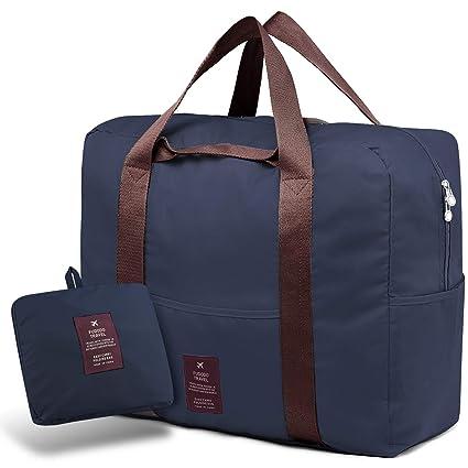 SPAHER Bolsa de Equipaje Bolsas de Viaje Plegable Duffle Bag Ligero Impermeable Organizador de Hombro de Almacenamiento de Transporte de Bolsas para ...