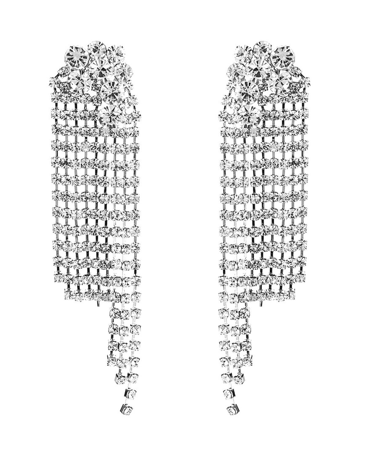Young & Forever Christmas gifts for women Verona Outrageously Intense Wedding diaries Swag Chandelier earrings for girls fancy party wear earrings for women fashion jewellery E607