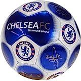 Chelsea Officiel Neuf Signature Édition Cimier Football - Métallique, Taille 5
