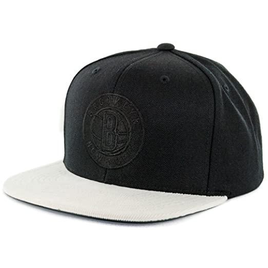 half off ca20b 0980b Image Unavailable. Image not available for. Color  Mitchell   Ness   quot Replay Tonal quot  Brooklyn Nets Snapback Hat (Black) Men s