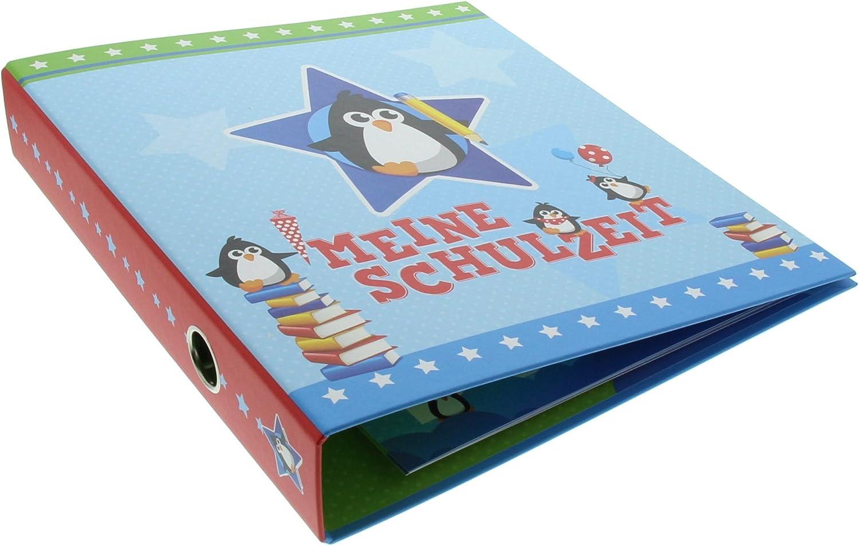 Schulzeitsammelordner A4 Pinguine