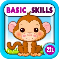 Preschool All-In-One Basic Skills: Learning Adventure A to Z (Letters, Numbers, Colors, Shapes, Go Together, Patterns, 123s counting, ABCs reading) - Games for Kids - Educational Toy for Baby, Toddler and Kindergarten Explorers by Abby Monkey