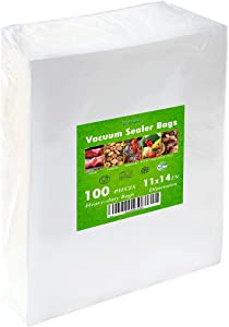 Food Saver Freezer Vacuum Sealer Storage Bags Size for Food Saver Vac Seal a Meal Bags with BPA Free and Heavy Duty Sous Vide Vaccume Safe PreCut Bag (Gallon-Minus 11