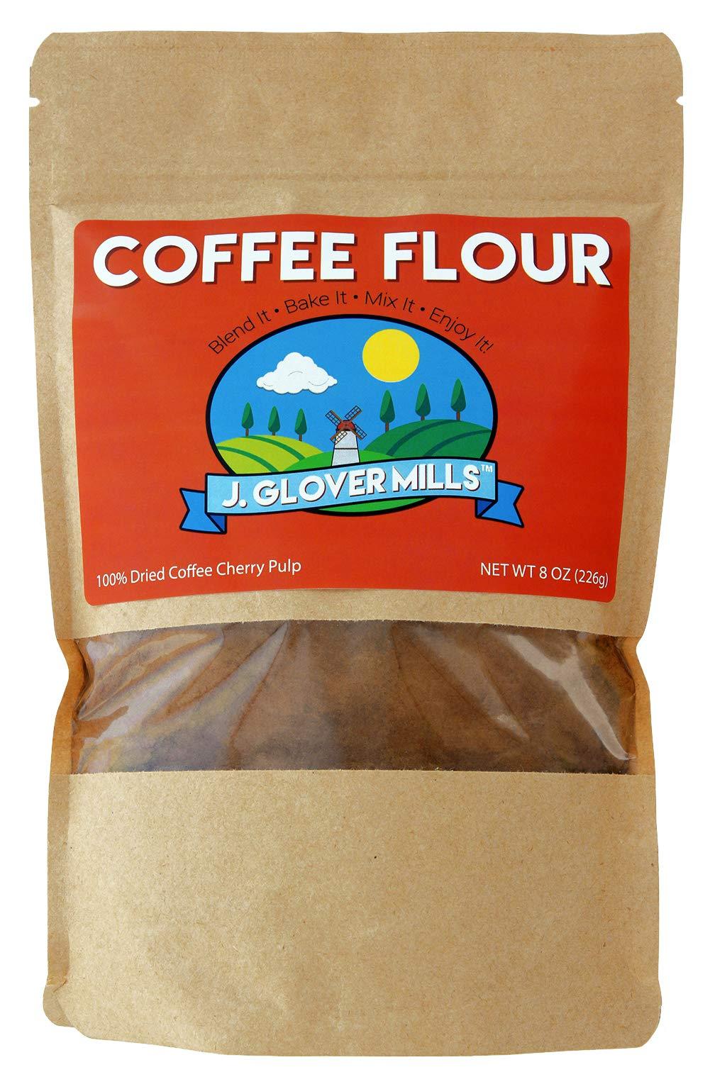 Coffee Flour - J.Glover Mills - 100% All Natural Coffee Flour - Sustainable Vegan Superfood with Antioxidants, Iron, Fiber, Potassium & Protein! - Blend It! Bake it! Love it!