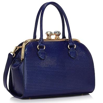0ffaad9deb95c LESSUN LONDON Stylish Handbags For Ladies Patent Bags Shoulder Bag Ladies  Tote Bags Large Faux Leather