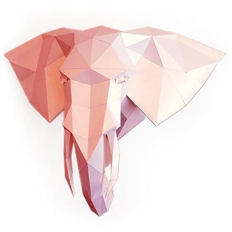 Amazon Polymustache Elephant 3d Puzzle Or 3d Paper Elephant