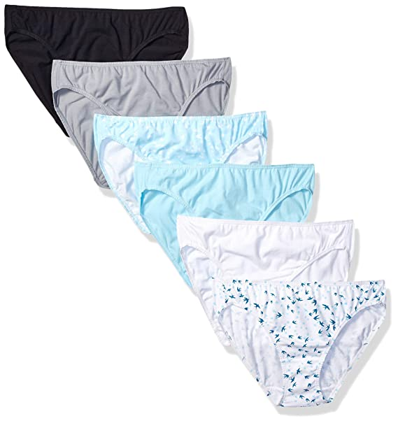2248628d3317 Fruit of the Loom Women's 6 Pack Cotton Stretch Bikini Panties, Assorted, 5
