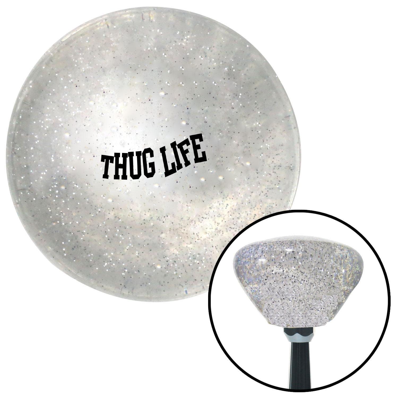 Black Thug Life Clear Retro Metal Flake with M16 x 1.5 Insert American Shifter 286788 Shift Knob