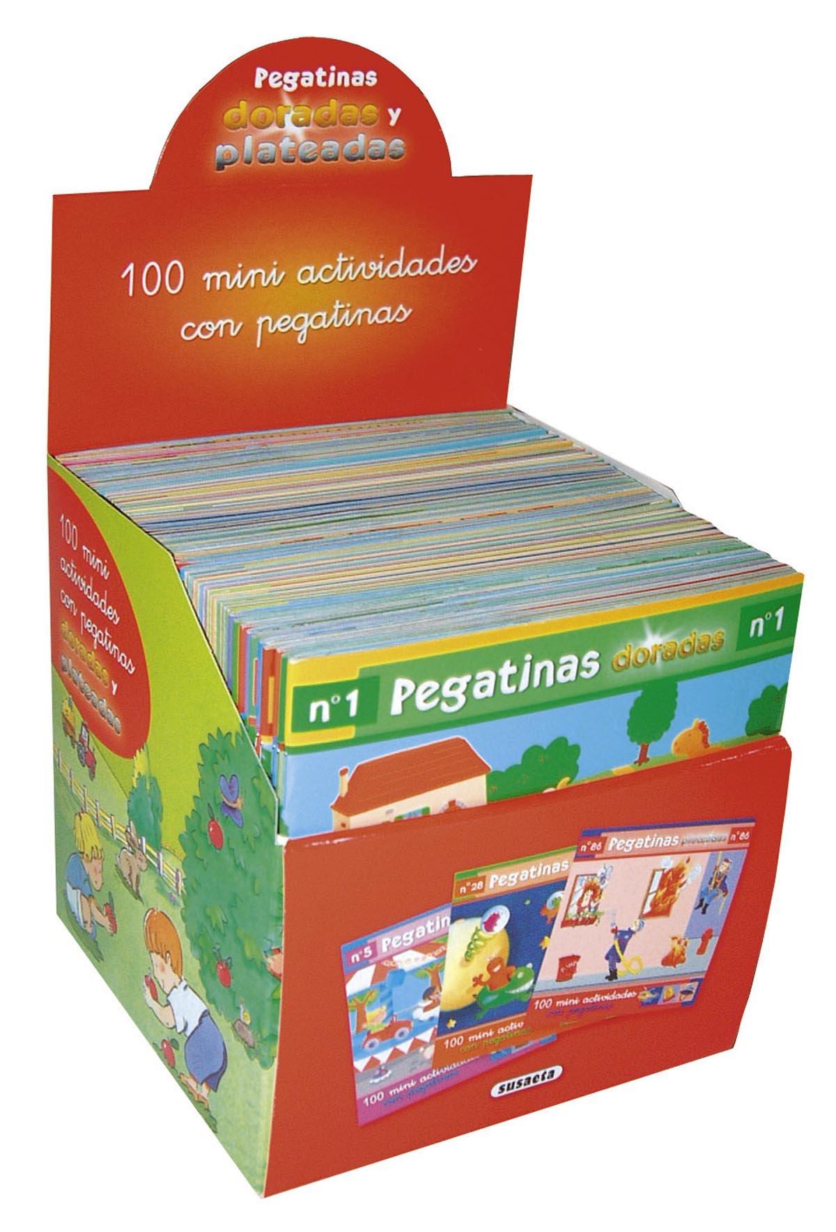 Estuche 100 Mini actividades con pegatinas plateadas (50 t ...