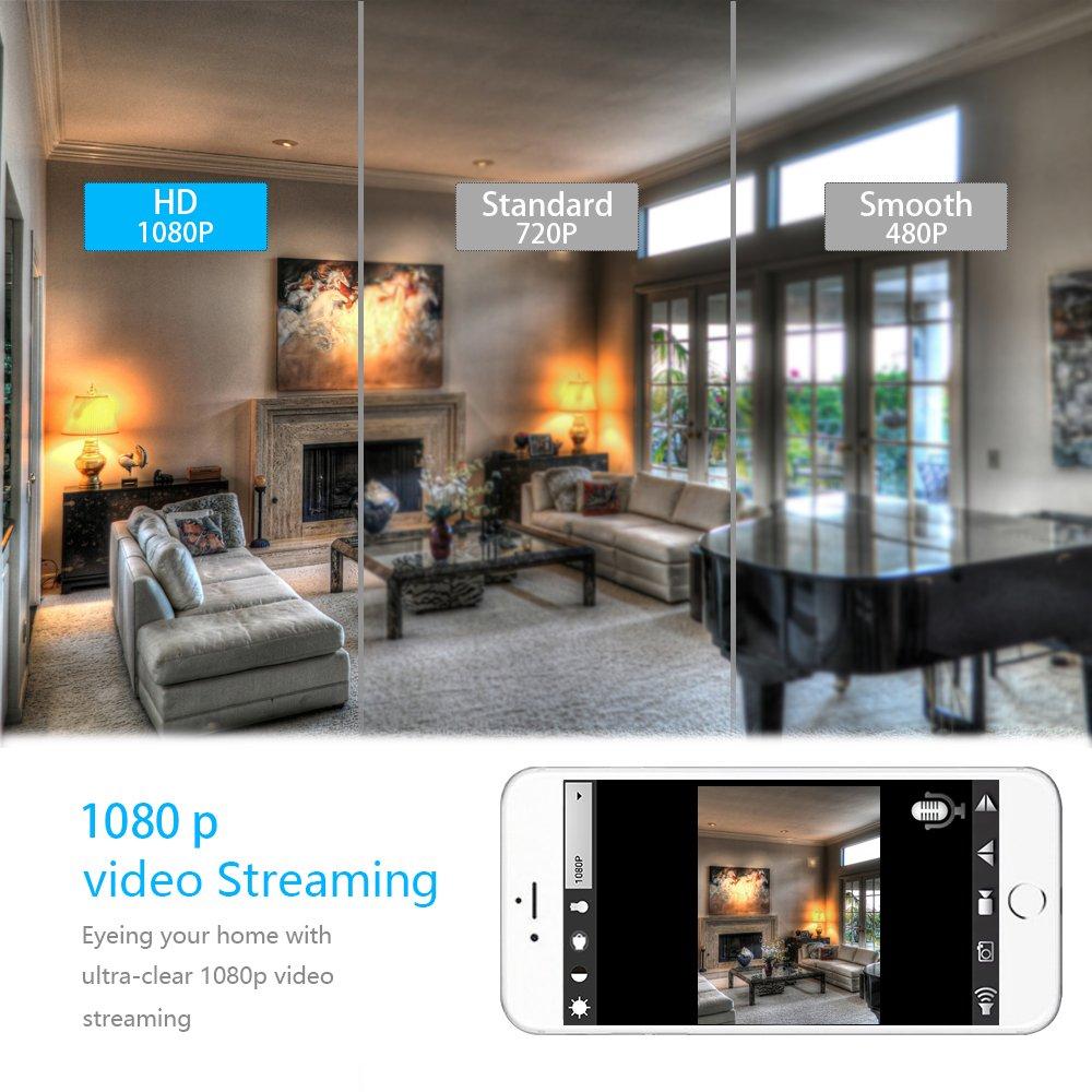 Aisoul Wifi Cámara Oculta Espía Detector - HD 1080p IP Cámara de Seguridad interior inalámbrico con App Video en Vivo, Detección de Movimiento, ...