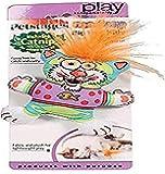 Petstages 745 Madcap Big Hair Kitty Cat Catnip Toss and Bat Plush Toy