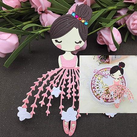 AM /_ è una ragazza ragazzo DIE taglio embossing STENCIL SCRAPBOOKING Card Making Fashi
