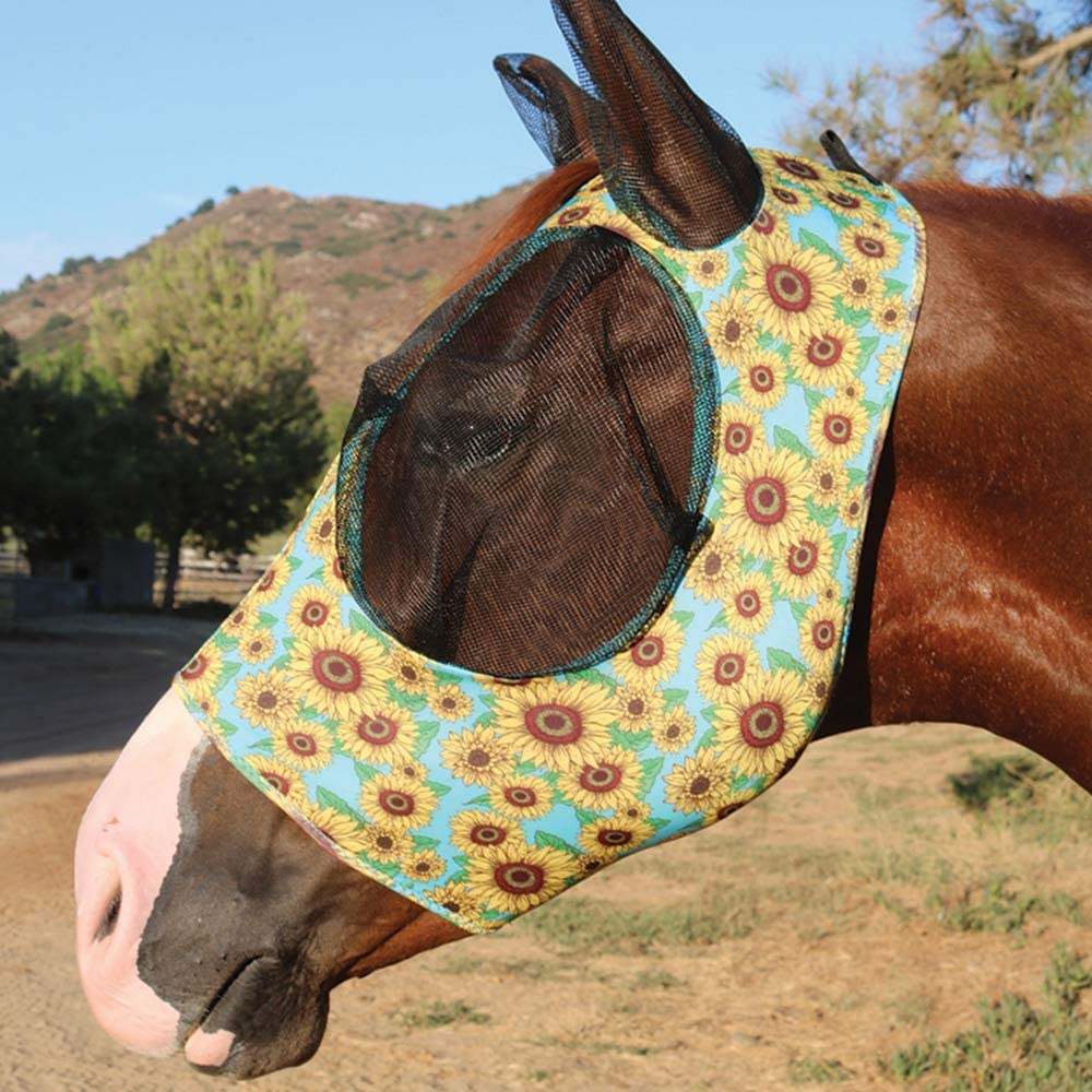 Amazon.com: Professional's Choice Sports Medicine Products Comfort Fly Lycra  Mask Horse Face Mask Horse Sunflower: Kitchen & Dining