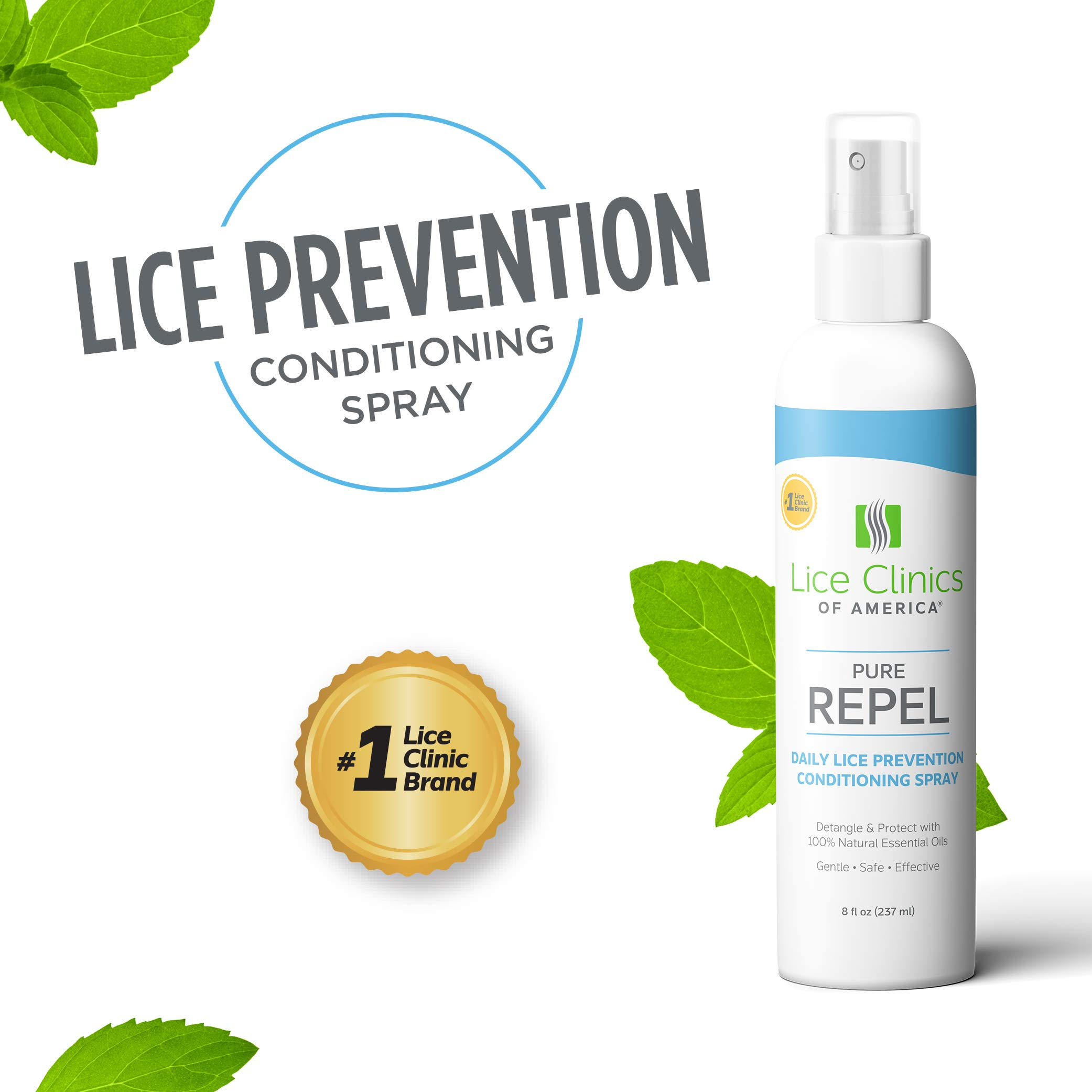 Lice Clinics of America Daily Lice Prevention Conditioning Spray - Repel Lice with 100% Natural Essential Oil by Lice Clinics of America