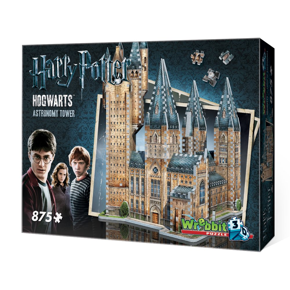 WREBBIT 3D Hogwarts Astronomy Tower 3D Jigsaw Puzzle (875 pieces)